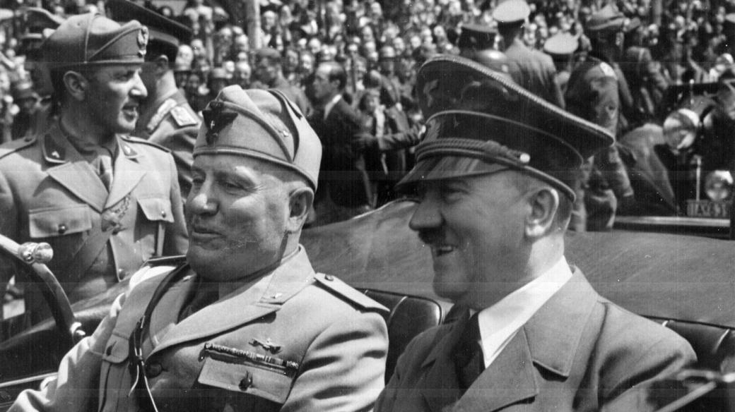 Benito Mussolini a Adolf Hitler v Mnichově, červen 1940