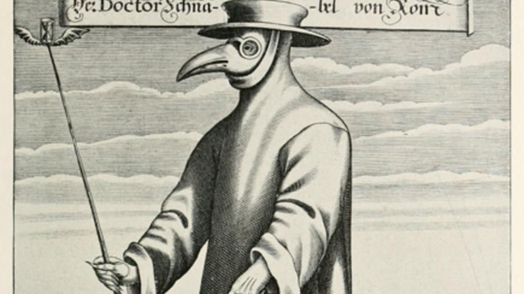 v dobách, kdy postižené jedince navštěvoval lékař s ptačí maskou, v jejímž zobáku byly napěchovány byliny. (autor: Paul Fürst)