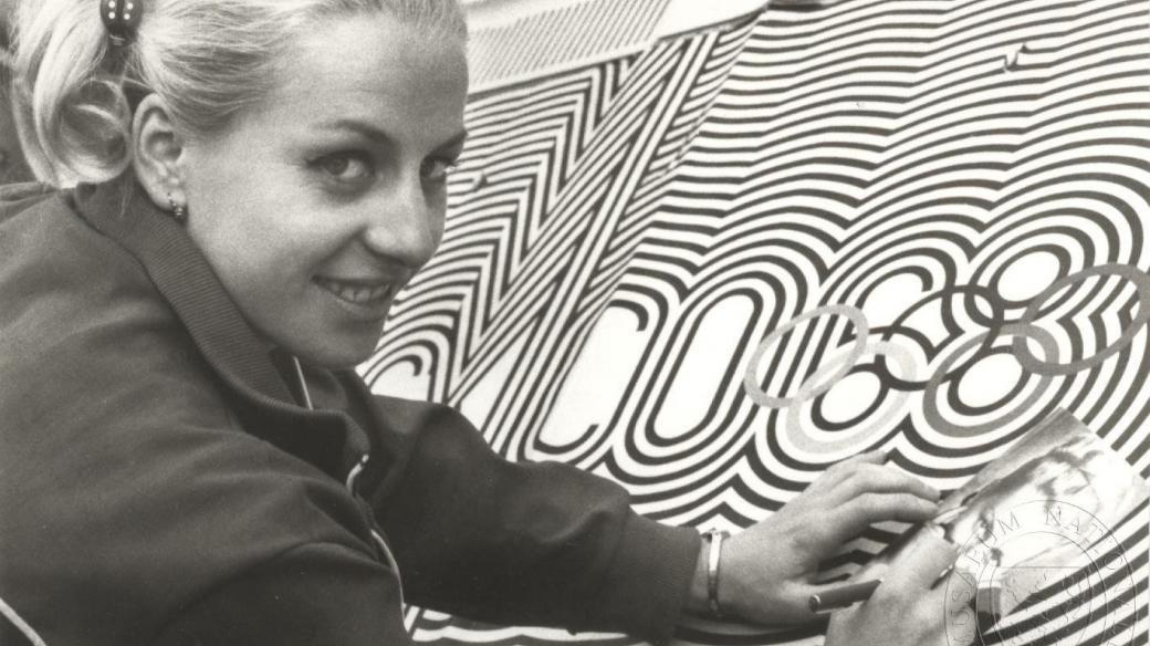 Věra Čáslavská na olympijských hrách v Mexiku (1968)