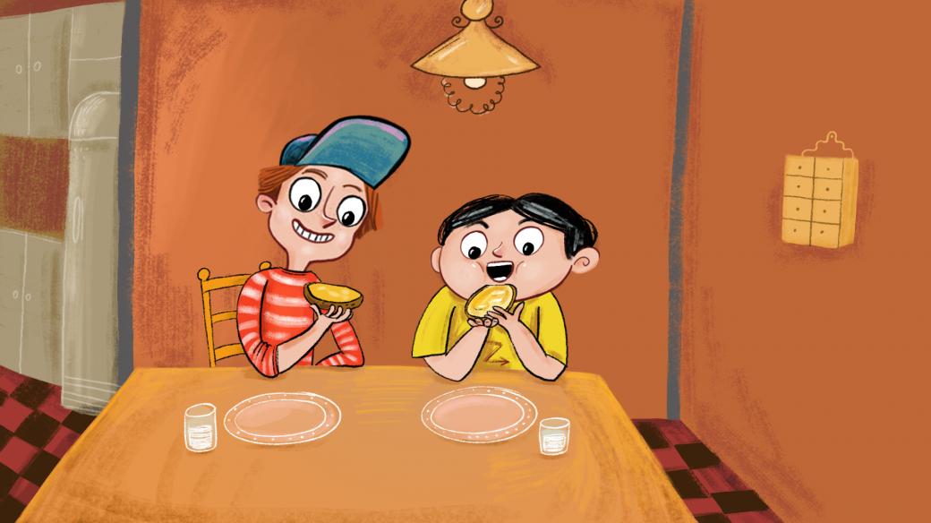 Venda a Fráňa u stolu