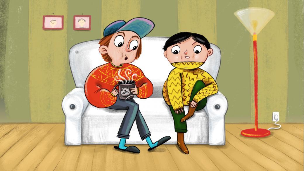 Venda a Fráňa na gauči
