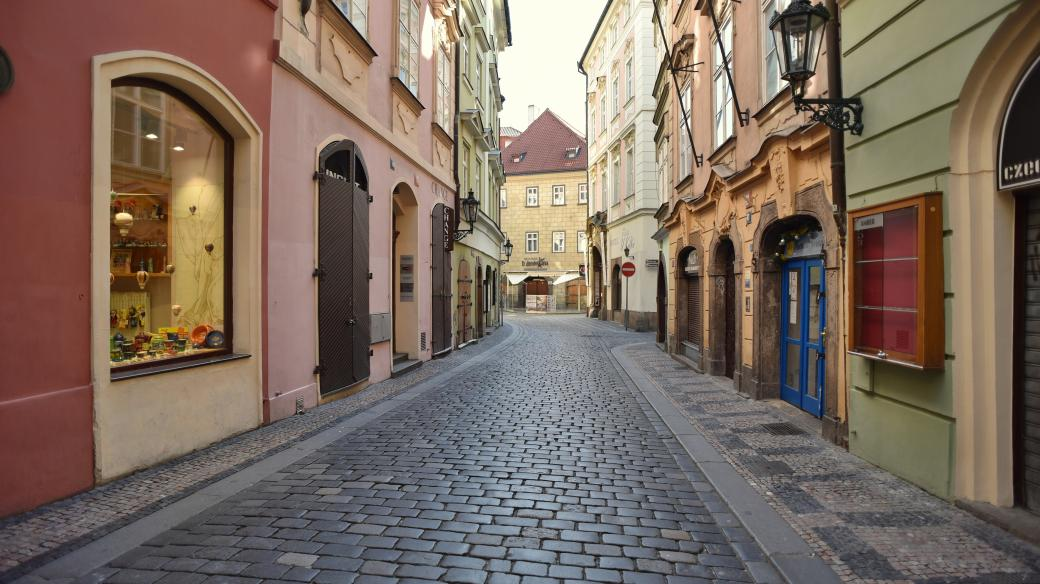 Centrum Prahy v době koronavirové krize, Karlova ulice