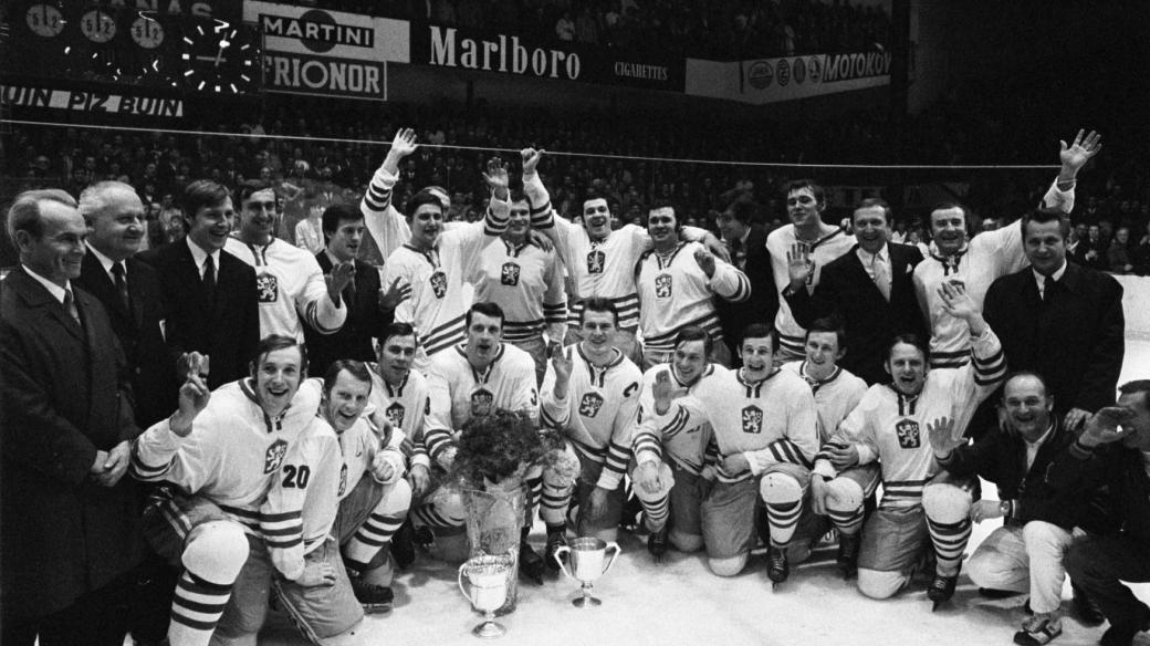 Vítězný československý tým na MS 1972