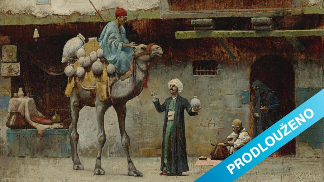 Prodejce keramiky ve starém městě Káhiře
