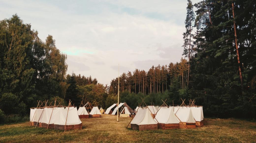 Skautský tábor   Junák – český skaut. 61. středisko Vítkov Praha