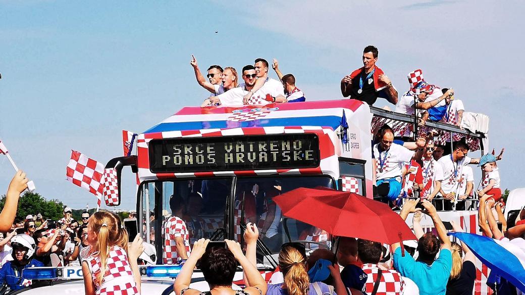 Chorvatští fotbalisté v Záhřebu