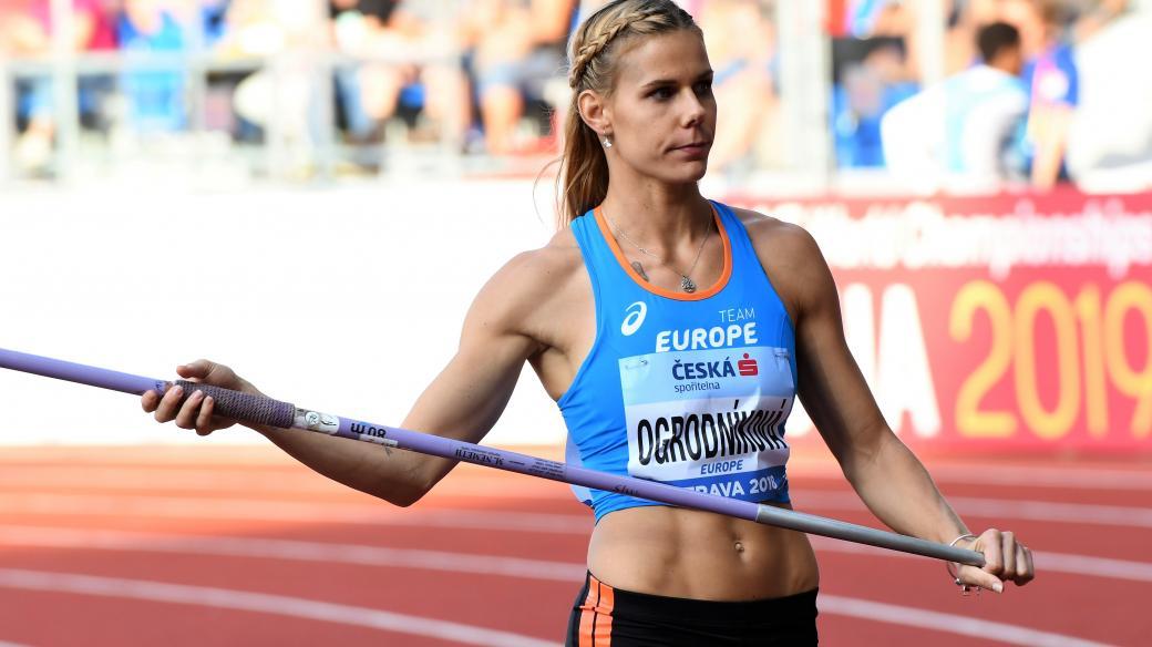 Nikola Ogrodníková na Kontinentálním poháru.
