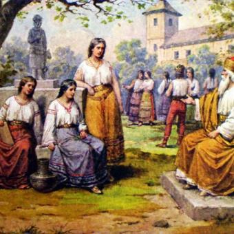 Kníže Krok a jeho dcery Teta, Kazi a Libuše