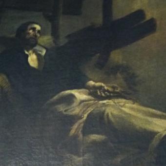 Obraz Smrt svatého Xaveria v chrámu svatého Mikuláše v Praze na Malé Straně