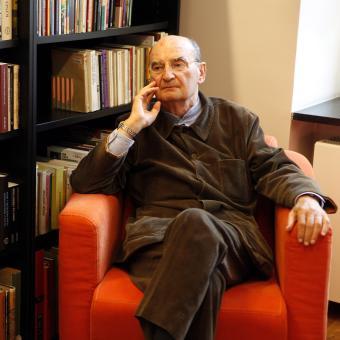 Polský satirik, dramatik a spisovatel Sławomir Mrożek (1930-2013)