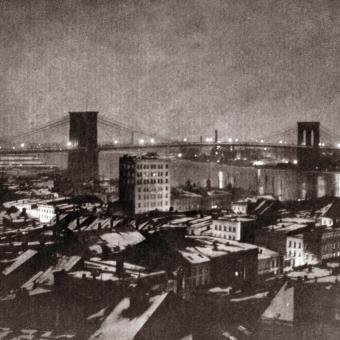Brooklyn Bridge at Night, New York City 1903