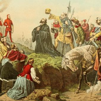 Jan Hus před hranicí