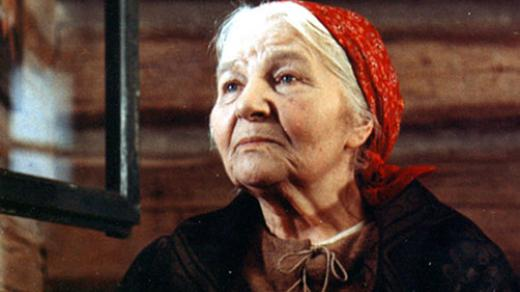 Herečka Jarmila Kurandová v televizním filmu Babička (1971)