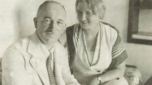 Edvard Beneš a jeho manželka Hana