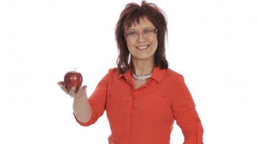 Kateřina Cajthamlová s jablkem