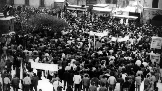 Demonstrace ve Svitavách v listopadu 1989
