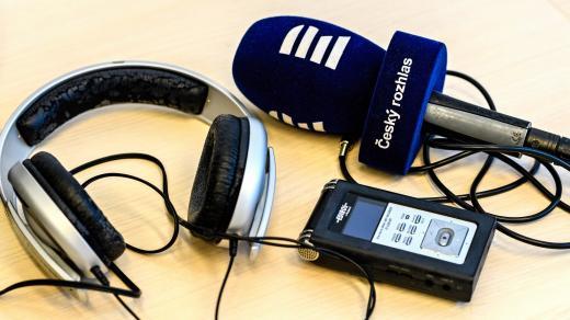 nahrávadlo, mikrofon, sluchátka
