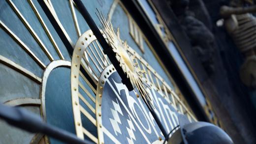 Detail astronomické části orloje