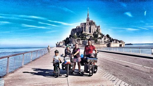 Berkovi na kolech na půlroční cestě po Evropě
