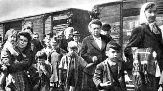 Vysídlené sudetoněmecké obyvatelstvo 1945