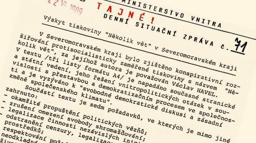 Denní situační zpráva Federálního ministerstva vnitra ČSSR ze dne 22. června 1989